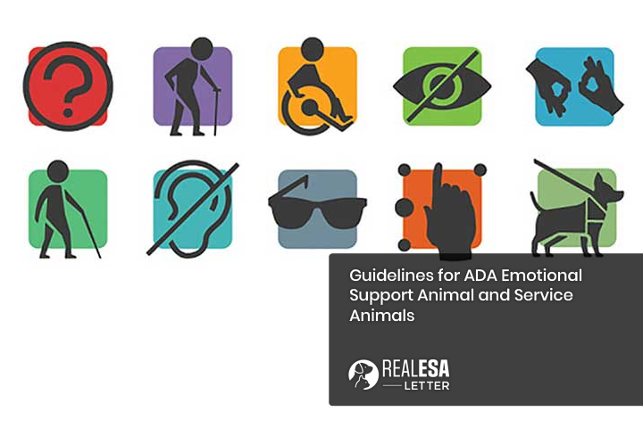 Guidelines with ADA for Emotional Support Animal